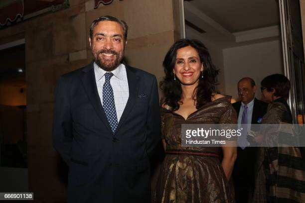 Model turned actress Shivani Wazir Pasrich with her husband Amir Pasrich during the Good France 2017 annual dinner hosted by French Ambassador...