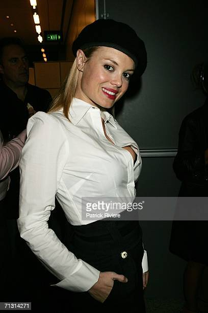 Model TV host Amy Erbacher attends the Safilo's sunglass collection launch at The Mint June 28 2006 in Sydney Australia