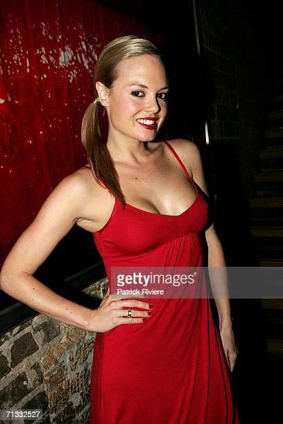 Model TV host Amy Erbacher attends TV fashion stylist Kelly Smythe's Birthday Party at Ruby Rabbit June 29 2006 in Sydney Australia Photo by Patrick