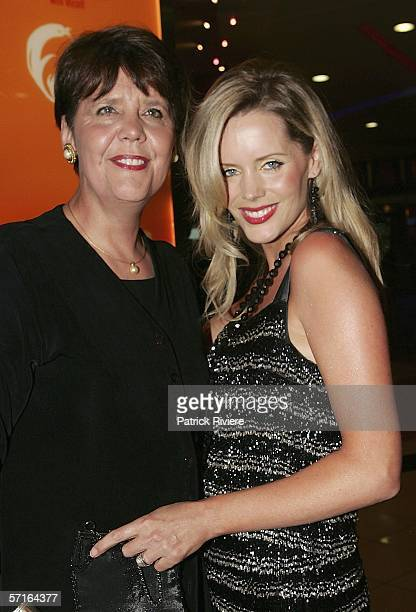 Model tv host Sophie Falkiner attends with her mother Aleida the opening night of 'Dusty The Original Pop Diva' at the Lyric Theatre on March 23 2006...