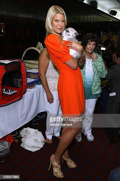 Model TV personality and North Shore Animal League Spokesperson Beth Ostrosky Stern attends a charity birthday celebration and cat fashion show for...