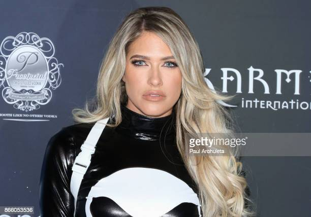 Model / TV Personality Barbie Blank attends the 2017 Maxim Halloween party at Los Angeles Center Studios on October 21 2017 in Los Angeles California