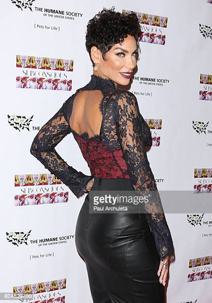Model / TV Personality Nicole Murphy attends the debut gallery opening of Bria Murphy's 'Subconscious' at Los Angeles Contemporary Exhibitions on...