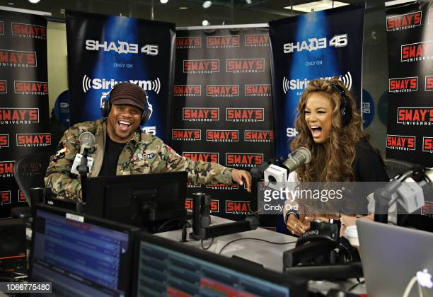 Model/ TV Personality Tyra Banks visits 'Sway in the Morning' with Sway Calloway on Eminem's Shade 45 at the SiriusXM Studios on November 30 2018 in...