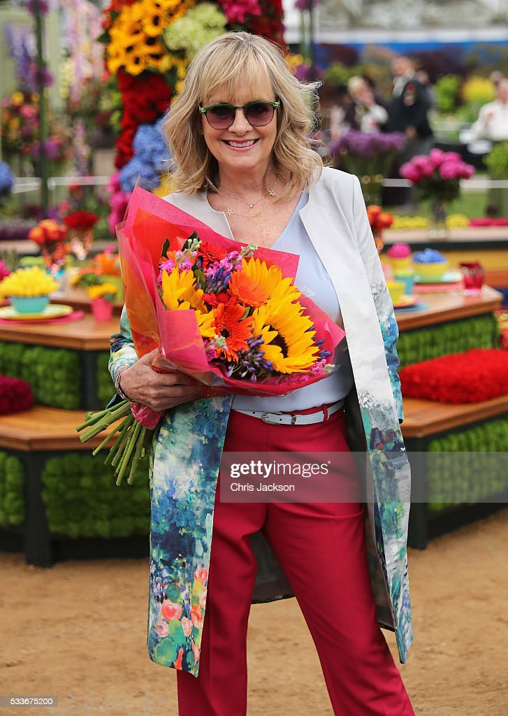 Model Twiggy poses at the M&S Garden at RHS Chelsea Flower Show on May 23, 2016 in London, England.