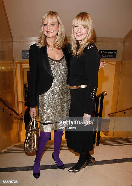 Model Twiggy with her daughter Carly Lawson attend the British Fashion Awards 2008 held at The Lawrence Hall on November 25 2008 in London England