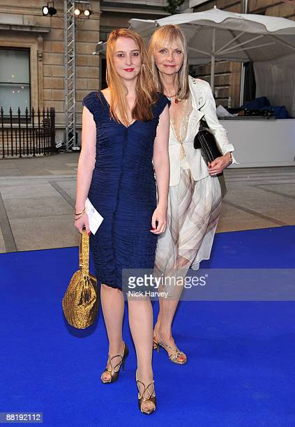 Model Twiggy with her daughter Carly Lawson attends the Summer Exhibition Preview Party 2009 at the Royal Academy of Arts on June 3 2009 in London...