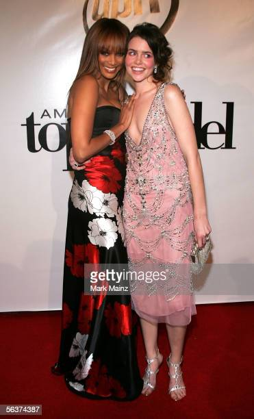 Model Tyra Banks and America's Next Top Model Winner Nicole Linkletter arrive to America's Next Top Model Cycle 5 Finale Event held at the The Avalon...