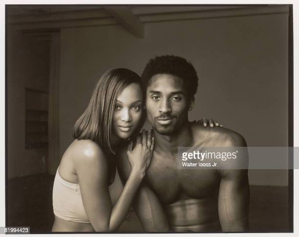 Model Tyra Banks and basketball player Kobe Bryant are photographed for Sports Illustrated in 1999 in Culver City California PUBLISHED IMAGE CREDIT...