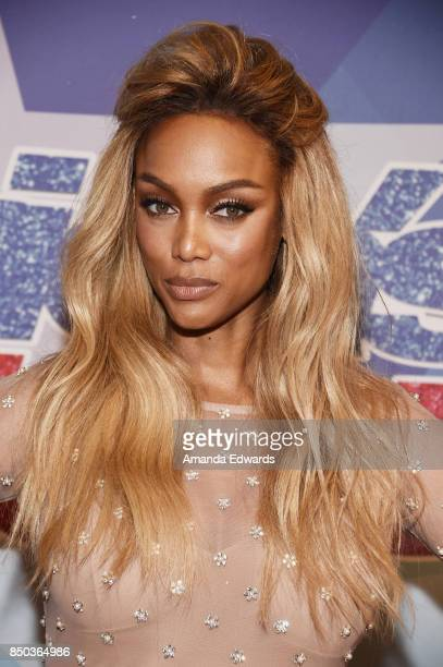 Model Tyra Banks attends NBC's 'America's Got Talent' Season 12 Finale at the Dolby Theatre on September 20 2017 in Hollywood California