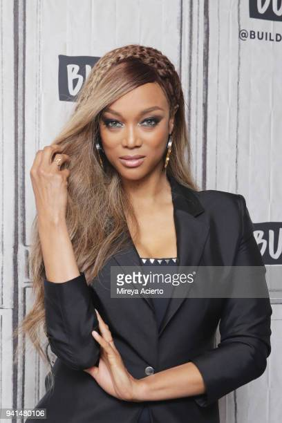Model Tyra Banks visits BUILD to discuss her book Perfect Is Boring 10 Things My Crazy Fierce Mama Taught Me About Beauty Booty and Being a Boss at...