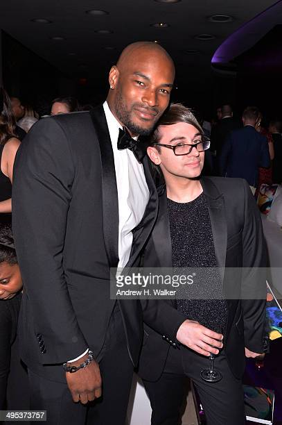 Model Tyson Beckford and designer Christian Siriano attend the 2014 CFDA Fashion Awards at Alice Tully Hall Lincoln Center on June 2 2014 in New York...
