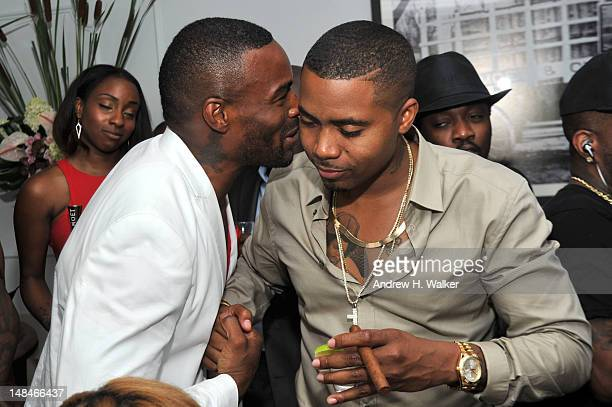 Model Tyson Beckford and rapper Nas attend Moet Rose Lounge Presents Nas' Life Is Good at Bagatelle on July 16 2012 in New York City