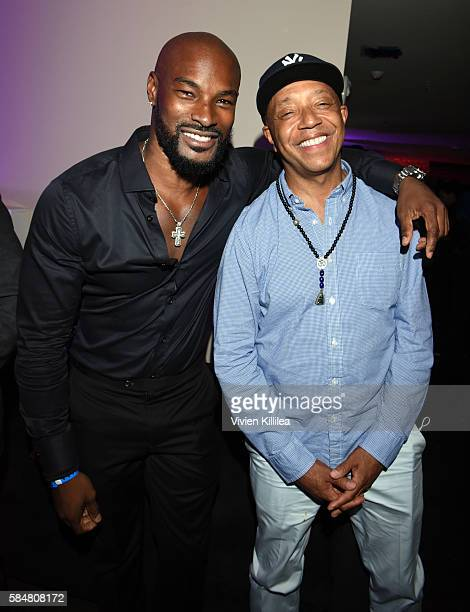 Model Tyson Beckford and Russell Simmons attend the 2016 MAXIM Hot 100 Party at the Hollywood Palladium on July 30 2016 in Los Angeles California
