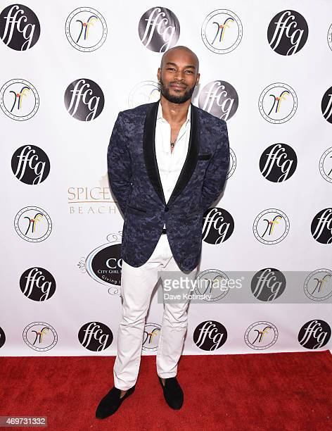 Model Tyson Beckford attend the 4th annual Fasion For Charity Gala at Dimenna Center for Classical Music on April 14, 2015 in New York City.