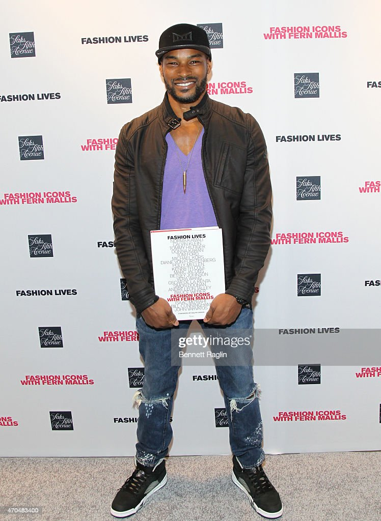 Model Tyson Beckford attends Fashion Lives Book Launch at Saks Fifth Avenue on April 20, 2015 in New York City.