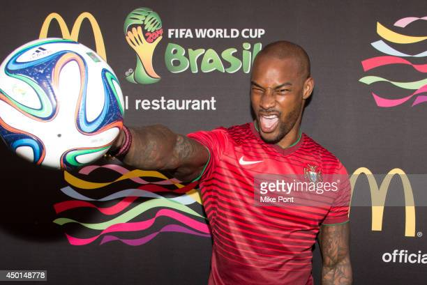Model Tyson Beckford attends the 2014 FIFA World Cup McDonald's Launch Party at Pillars 38 on June 5, 2014 in New York City.