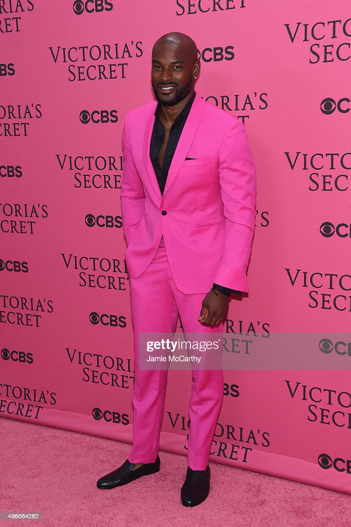 Model Tyson Beckford attends the 2015 Victoria's Secret Fashion Show at Lexington Avenue Armory on November 10, 2015 in New York City.