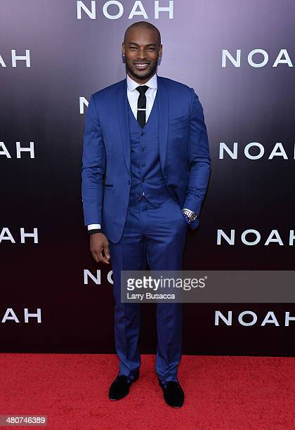 Model Tyson Beckford attends the New York premiere of Paramount Pictures' 'Noah' at the Ziegfeld Theatre on March 26 2014 in New York City