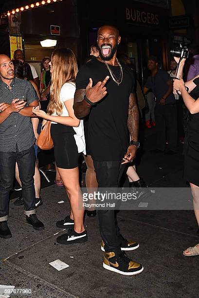 Model Tyson Beckford is seen outside Club Up and Down on August 29 2016 in New York City