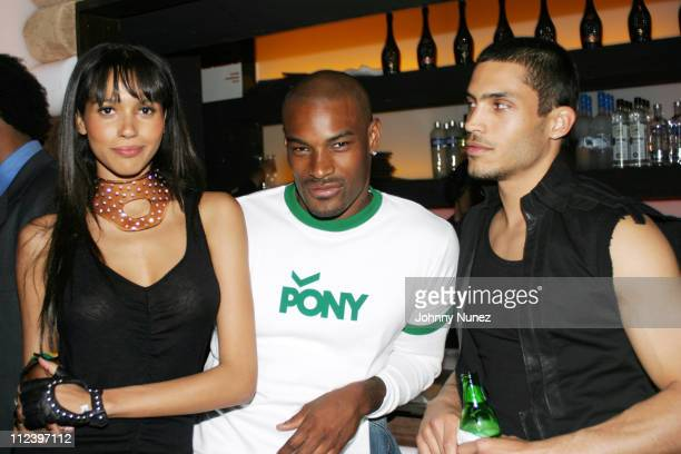 Model, Tyson Beckford, Will Lemay during Vibe Magazine 10th Anniversary Fashion Party at Cielo in New York City, New York, United States.