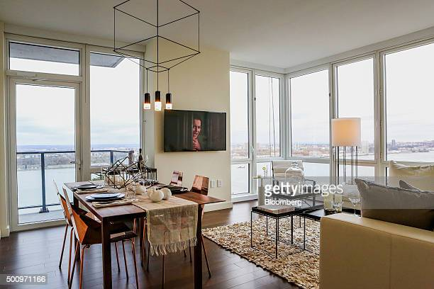 A model unit is seen in the Moinian Group Sky tower in New York US on Wednesday Nov 18 2015 Next week the first tenants will move into Moinian...