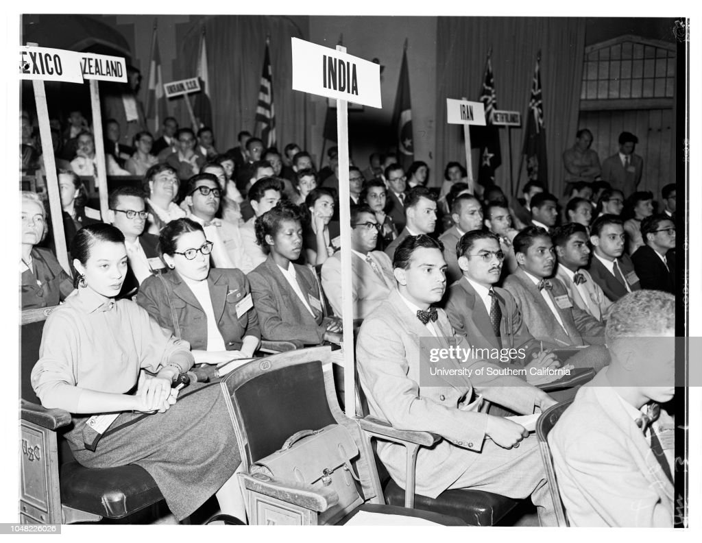 Model United Nations at University of Southern California, 1952 : News Photo