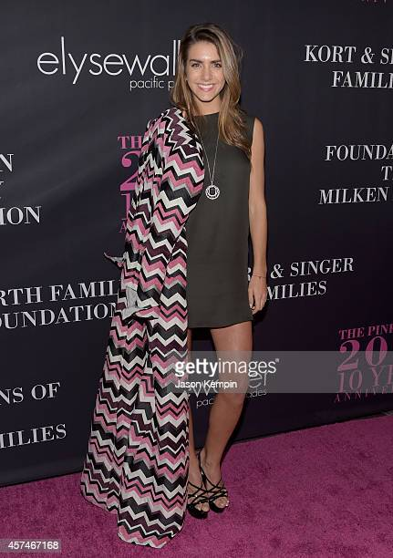 Model Valentina Ferrer attends Elyse Walker presents the 10th anniversary Pink Party hosted by Jennifer Garner and Rachel Zoe at HANGAR8 on October...