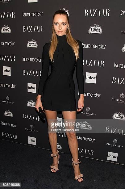 Model Valentina Zelyaeva attends Harper's BAZAAR Celebrates 'ICONS By Carine Roitfeld' at The Plaza Hotel on September 9 2016 in New York City