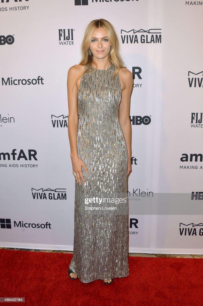 Model Valentina Zelyaeva attends the amfAR Inspiration Gala New York 2014 at The Plaza Hotel on June 10, 2014 in New York City.