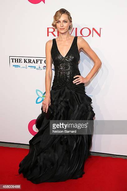 Model Valentina Zelyaeva attends the Elton John AIDS Foundation's 13th Annual An Enduring Vision Benefit at Cipriani Wall Street powered by CIROC...