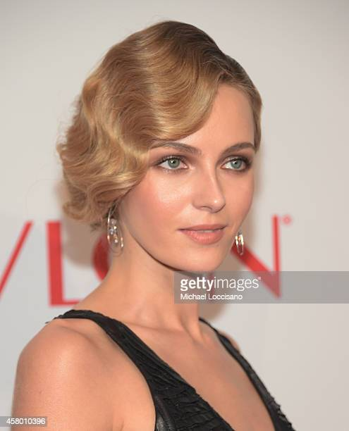 Model Valentina Zelyaeva attends the Elton John AIDS Foundation's 13th Annual An Enduring Vision Benefit at Cipriani Wall Street on October 28 2014...