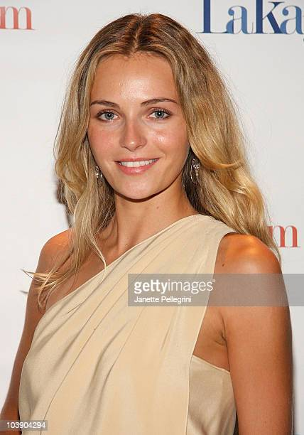 Model Valentina Zelyaeva attends the LakayPAM Awareness Fundraising Event for the Haiti Earthquake Relief at Opera Gallery on September 7 2010 in New...