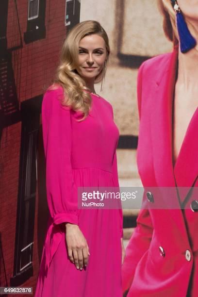 Model Valentina Zenlayaeva presents the new Corte Ingles 2017 spring campaign at the El Corte Ingles Serrano store on March 8 2017 in Madrid Spain