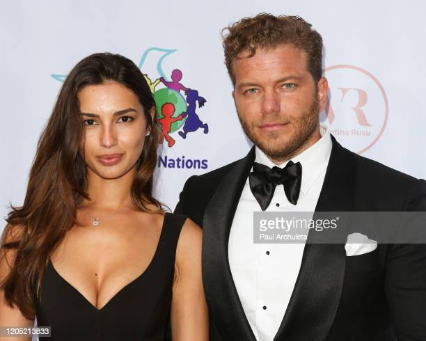 Model Valeriya Lapidus and Vlad Lapidus attend the 21st Annual Cinemoi Oscars Party on February 09, 2020 in Beverly Hills, California.