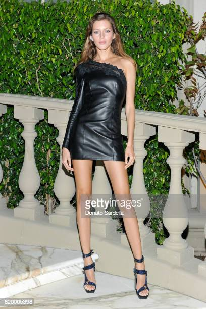 Model Valery Kaufman at BALMAIN celebrates first Los Angeles boutique opening and Beats by Dre collaboration on July 20 2017 in Beverly Hills...