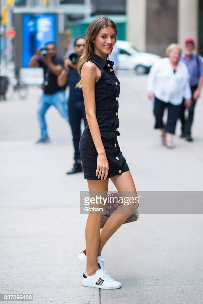 Model Valery Kaufman attends call backs for the 2017 Victoria's Secret Fashion Show in Midtown on August 22 2017 in New York City