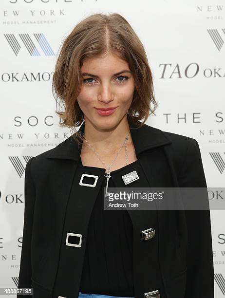 Model Valery Kaufman attends the 'Tao Okamoto 15' Exhibition Opening at Hudson Studios on May 8 2014 in New York City