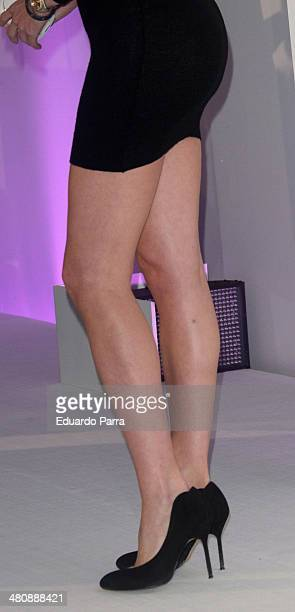 Model Vanesa Lorenzo attends new Philips Lumea confort press conference photocall at Palace hotel on March 27 2014 in Madrid Spain