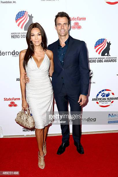 Model Vanessa Arevalo and Actor Cameron Mathison attend the 5th Annual American Humane Association Hero Dog Awards at The Beverly Hilton Hotel on...