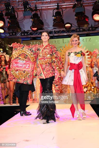 Model Vanessa Fuchs and Kim Hnizdo during the 20th Lambertz Monday Night 2018 at Alter Wartesaal on January 29 2018 in Cologne Germany