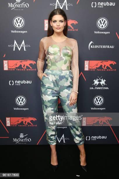 Model Vanessa Fuchs attends the New Faces Award Film at Spindler & Klatt on April 26, 2018 in Berlin, Germany.