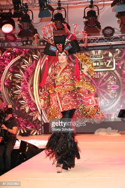 Model Vanessa Fuchs during the 20th Lambertz Monday Night 2018 at Alter Wartesaal on January 29 2018 in Cologne Germany