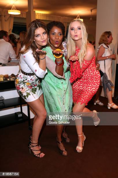 Model Vanessa Fuchs Liz Baffoe and Anna Hiltrop during the media night of the CHIO 2017 on July 18 2017 in Aachen Germany