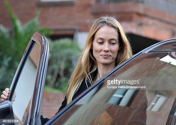 Model Vanessa Lorenzo celebrates her 38th birthday on January 7 2015 in Barcelona Spain
