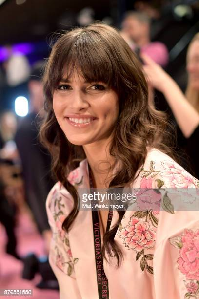 Model Vanessa Moody pose in Hair Makeup during 2017 Victoria's Secret Fashion Show In Shanghai at MercedesBenz Arena on November 20 2017 in Shanghai...