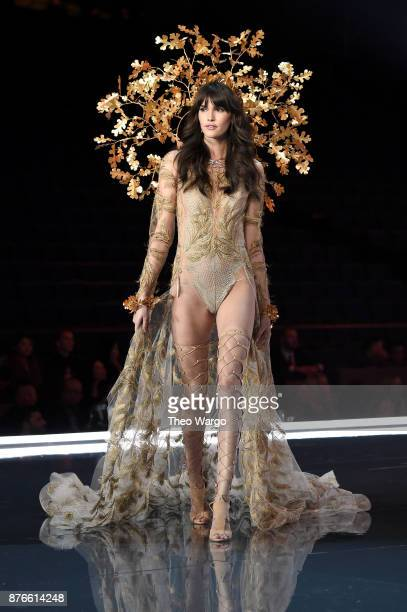 Model Vanessa Moody walks the runway during the 2017 Victoria's Secret Fashion Show In Shanghai at MercedesBenz Arena on November 20 2017 in Shanghai...