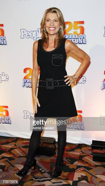 Model Vanna White attends the 25th anniversary celebration of the television game show Wheel Of Fortune at Radio City Music Hall September 27 2007 in...