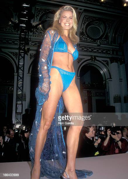 Model Vendela attends the Third Annual Victoria's Secret Spring Fashion Show - Runway Show on February 4, 1997 at Plaza Hotel in New York City, New...