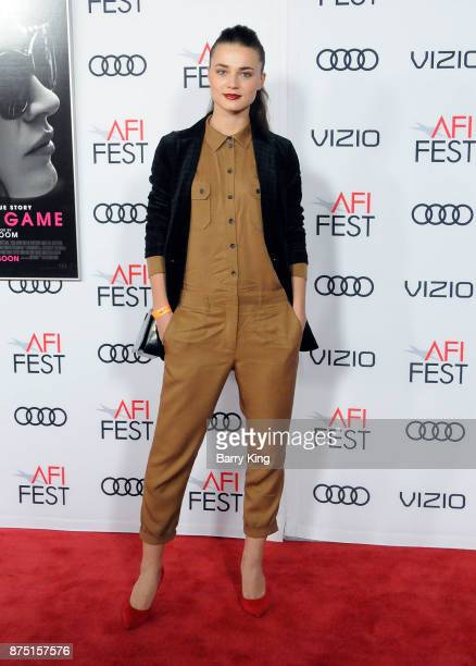 Model Veranika Irbis attends AFI FEST 2017 Presented By Audi Closing Night Gala Screening Of 'Molly's Game' at TCL Chinese Theatre on November 16...